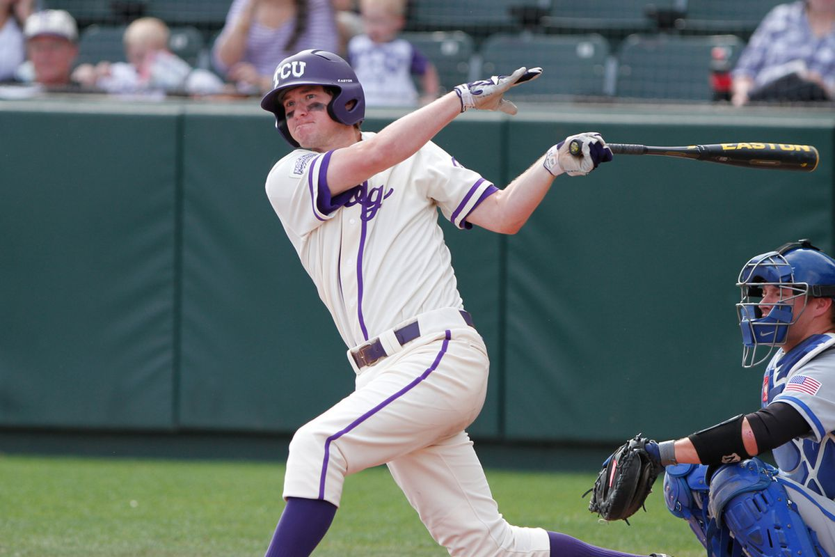 Jantzen Witte batted fourth for the Frogs on Friday.