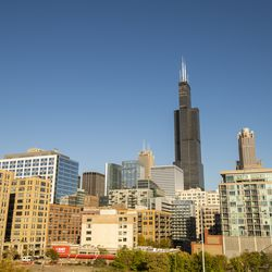 Chicago skyline from the point of view of the National Hellenic Museum in Greektown.   Tyler LaRiviere/Sun-Times
