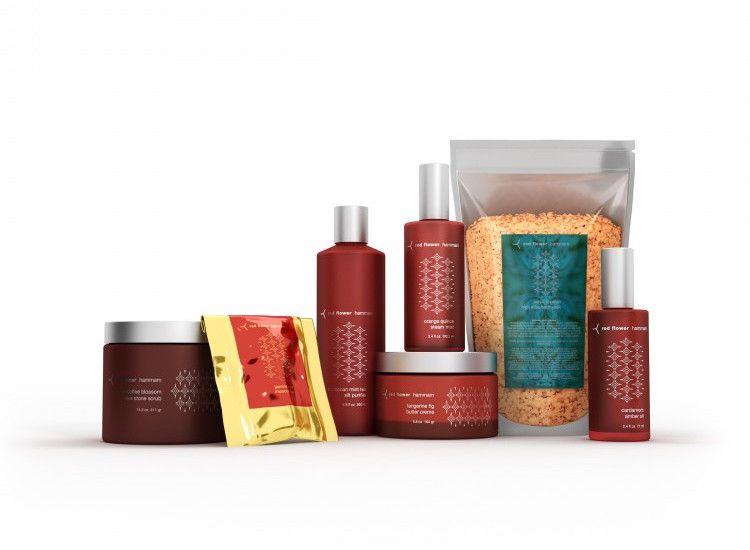 A set of bath products