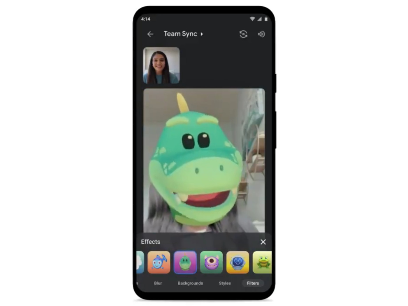 Google Meet adds Duo-style filters, AR masks, and effects - The Verge