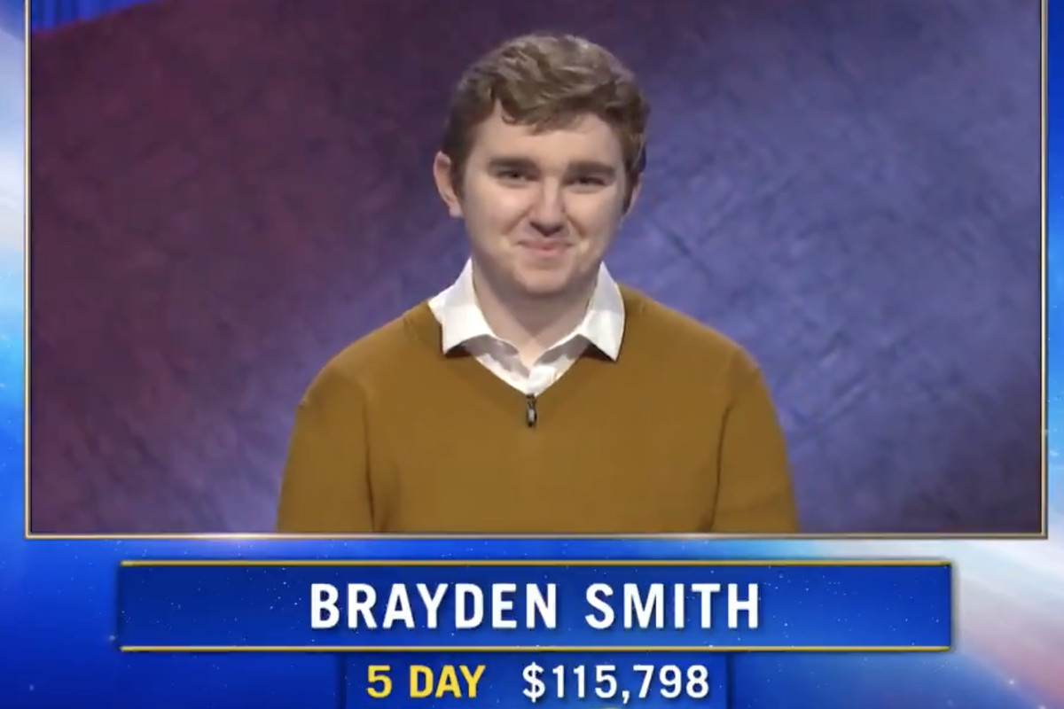 """Brayden Smith, 24, was a five-game """"Jeopardy!"""" champion. Smith, who died in February, would have competed in the Tournament of Champions."""
