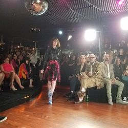 """Styled by Elizabeth Stewart, the show's models (including the stylist's daughter) were plucked from college prep school Crossroads. """"They're all Elizabeth's daughter's friends. We have a little high school casting program going on,"""" Wolk joked."""