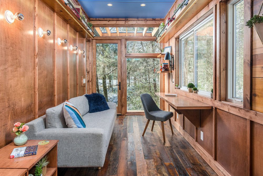 New Tiny House Also Serves As Writing Studio And Library