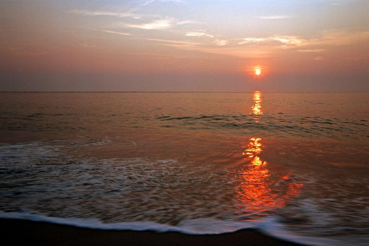 Sunrise on Beach, Delaware Seashore