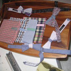 Neckwear and pocket squares.