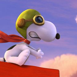 """Snoopy takes to the skies to battle his arch nemesis in""""The Peanuts Movie."""""""