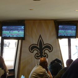 Watching the Falcons blow it inside the Plaza Club.