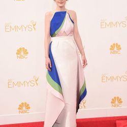 <em>Downton Abbey</em>'s Michelle Dockery in Rosie Assoulin.