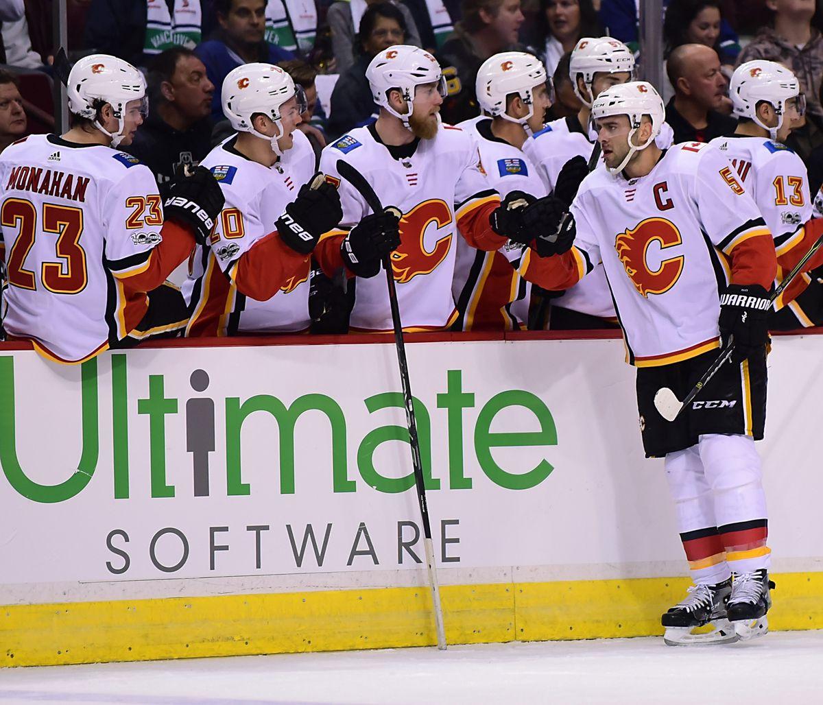 NHL: Calgary Flames at Vancouver Canucks