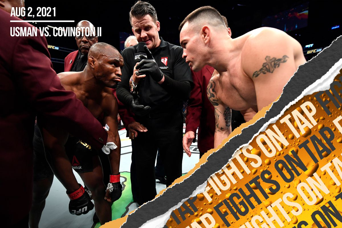 Kamaru Usman and Colby Covington before their first fight at UFC 245.