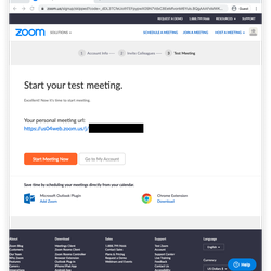 <em>You can then try a test meeting</em>