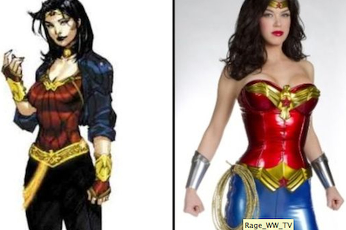 """She's no Linda Carter, but Adrianne Palicki looks pretty good in that bustier. Image via <a href=""""http://latimesblogs.latimes.com/alltherage/"""">LAT</a>."""