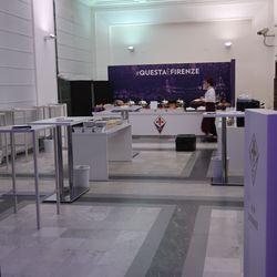 Fiorentina staff prepare for fans