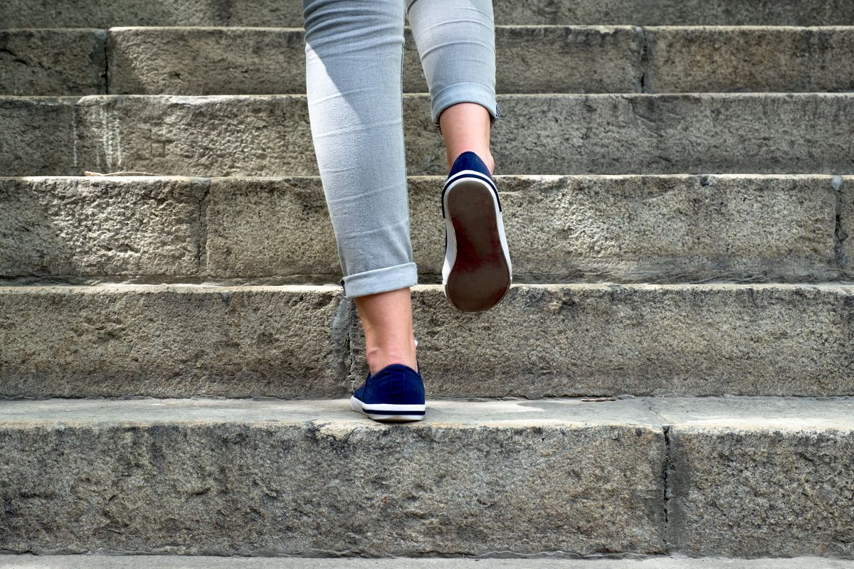 A new study says that 7,000 to 7,500 steps a day are a good goal to help improve your health.
