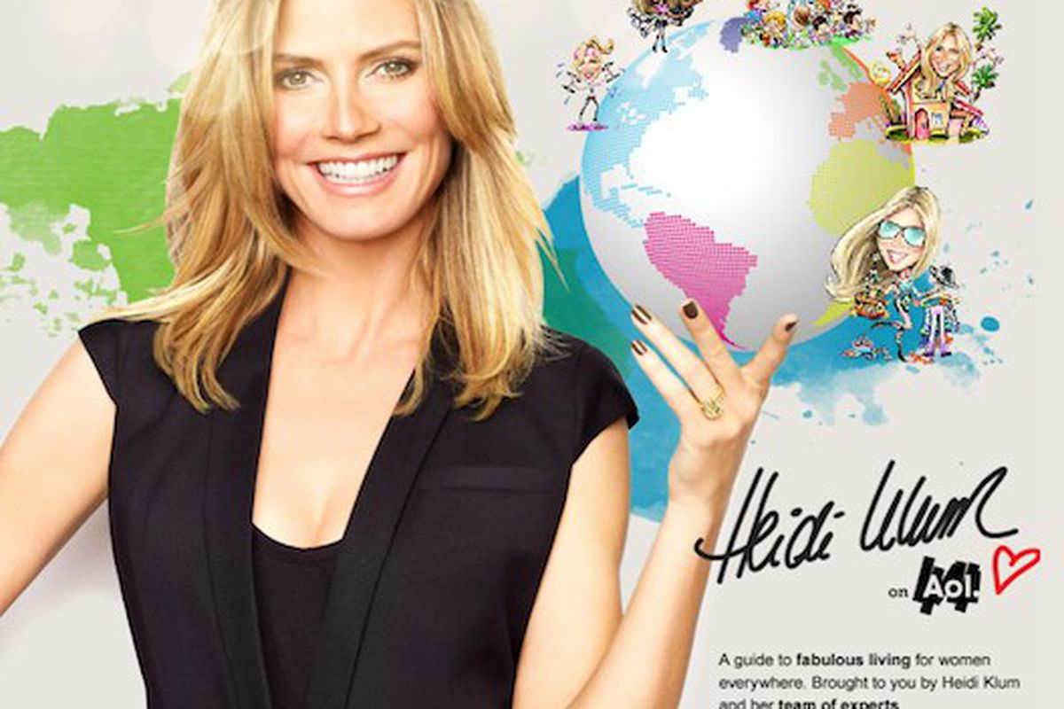 """It's Heidi's world, we just live in it. Image via <a href=""""http://racked.com/archives/2011/05/23/heidi-klum-launches-lifestyle-website-in-collaboration-with-aol.php"""">Racked</a>."""