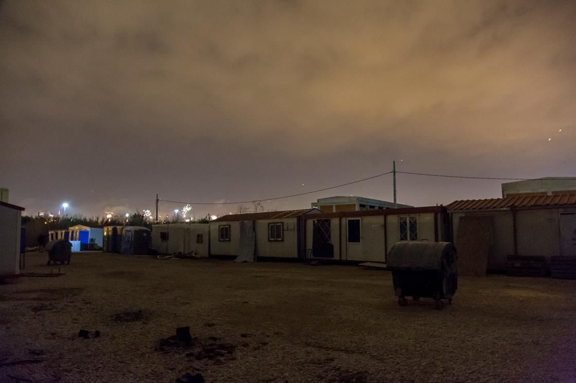 Softex refugee camp in Greece