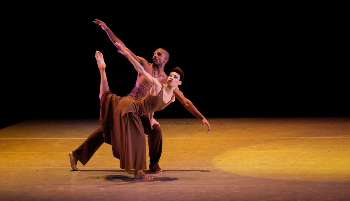 """AAADT's Ghrai DeVore and Michael Jackson Jr. in Alvin Ailey's """"Revelations."""" 