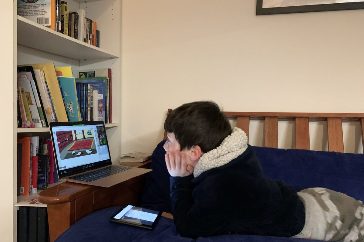 Carrie Cohen's son, Aaron, is part of a virtual debate and book club.