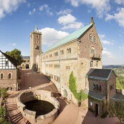 """Wartburg Castle was where Luther was held """"prisoner"""" for his own safety after the Diet of Worms in 1521-22."""