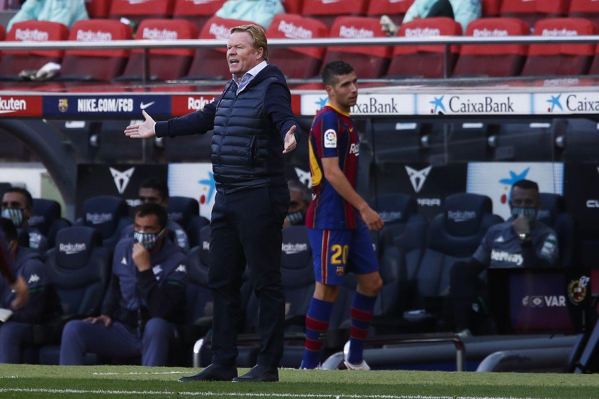 Barcelona coach Koeman