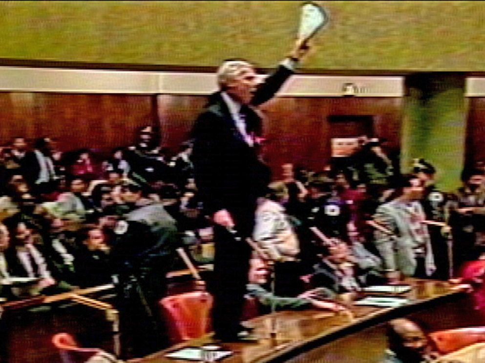 """In 1987, during the infamous """"Council Wars,"""" Ald. Richard Mell stood on his desk, demanding to be heard. 