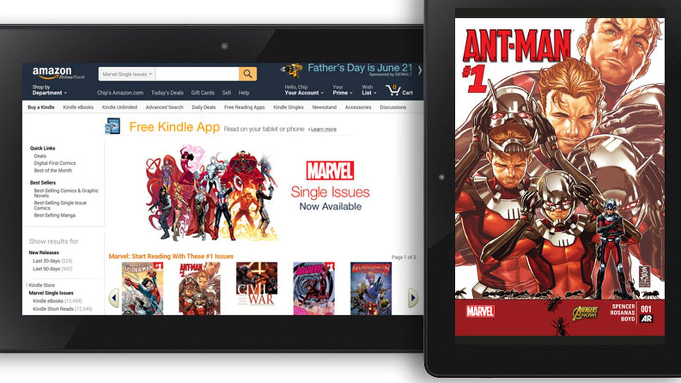 Amazon deal brings 12,000 Marvel comics to the Kindle store