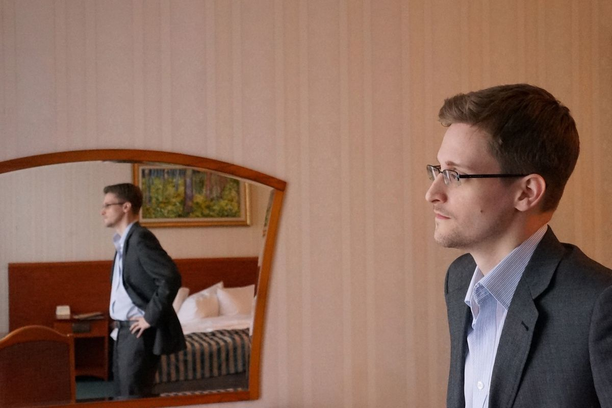 Snowden at his home in Moscow