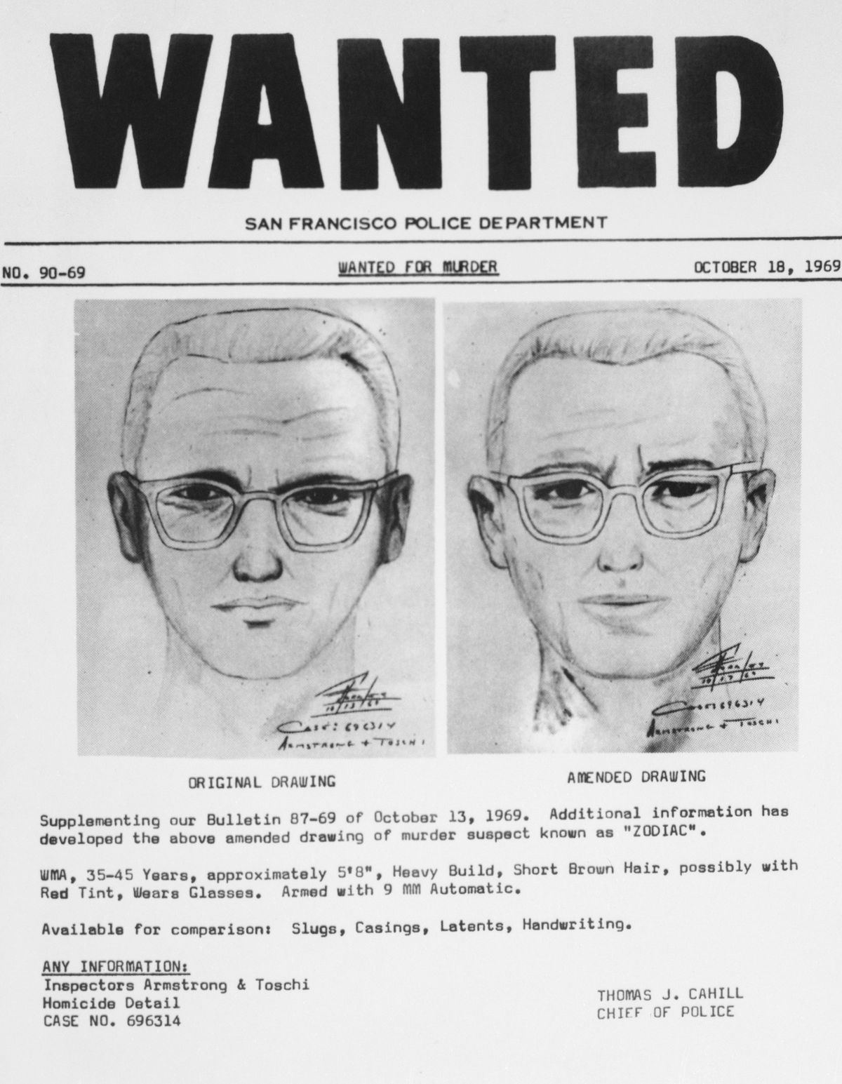 ff2bc4257961 San Francisco police circulated this composite of the Bay Area s Zodiac  Killer. Photo  Bettmann Archive Getty