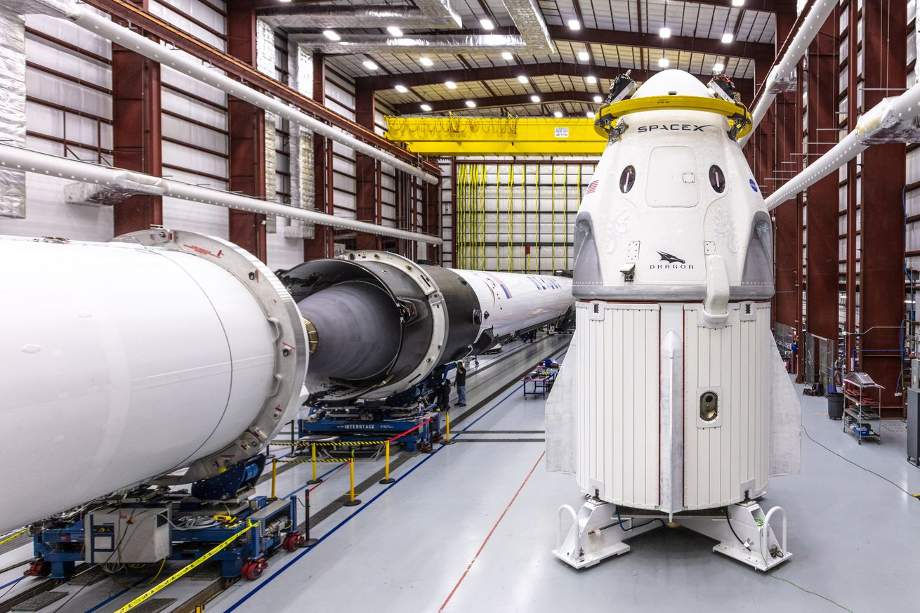 <em>SpaceX's Crew Dragon capsule, which flew during its first test flight in March</em>