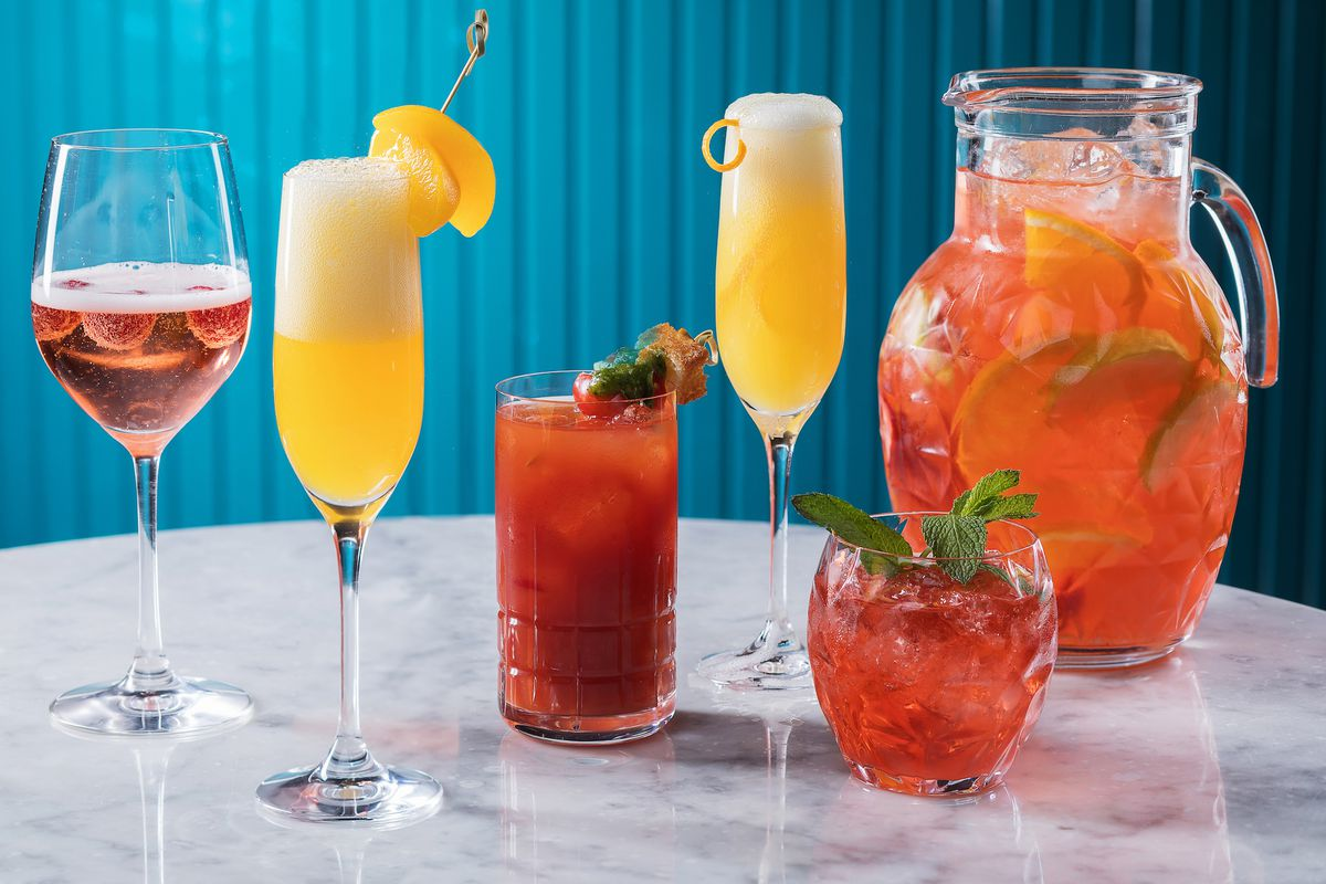Brunch cocktails at Osteria Costa