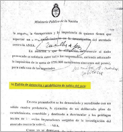 Nisman warrant page 1