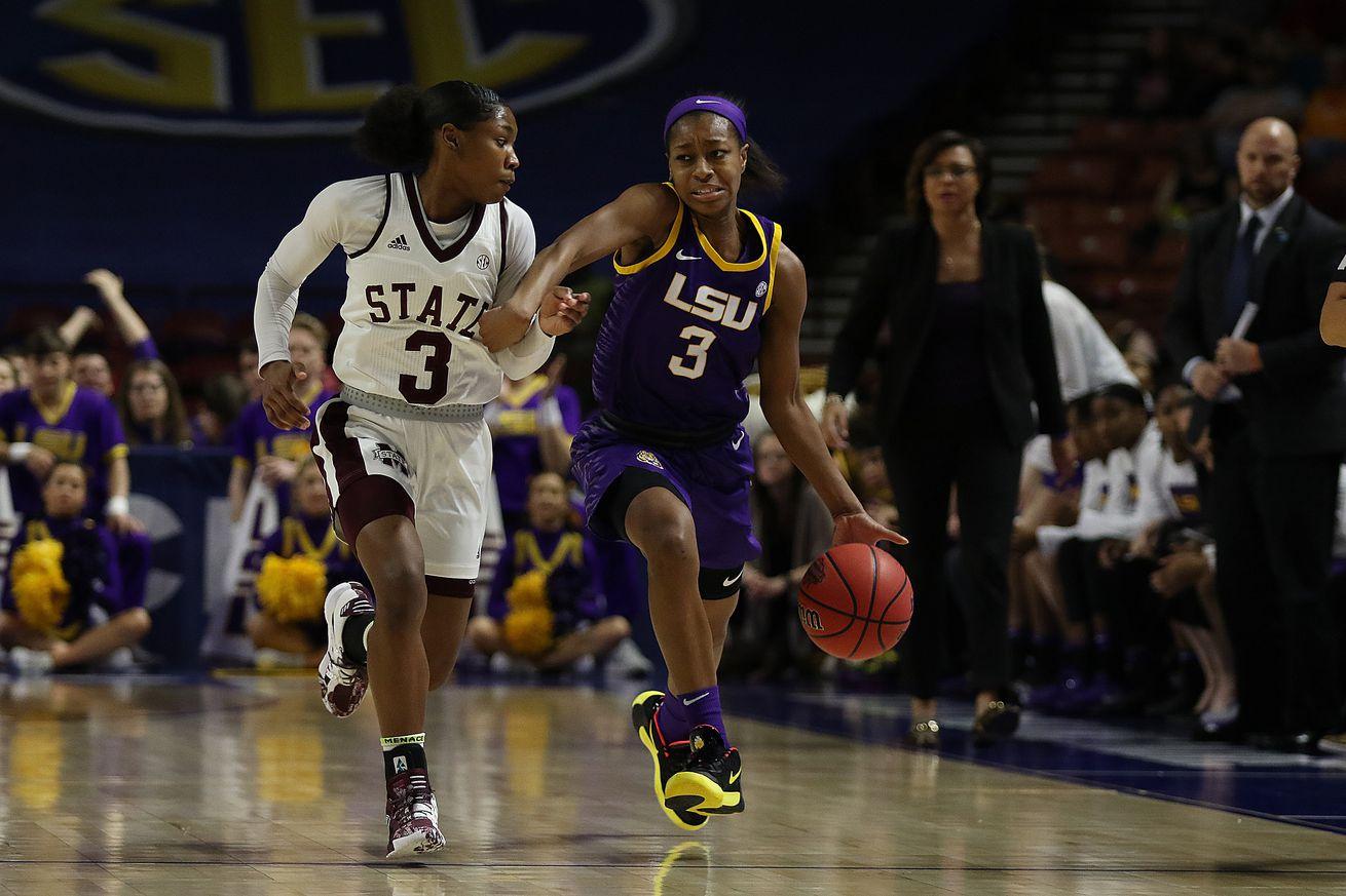 COLLEGE BASKETBALL: MAR 06 SEC Women's Tournament - LSU vs Mississippi State