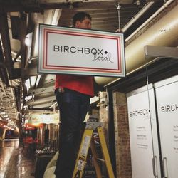 So excited for Birchbox Local to open to the public! Adorable sign hanging in Chelsea market.