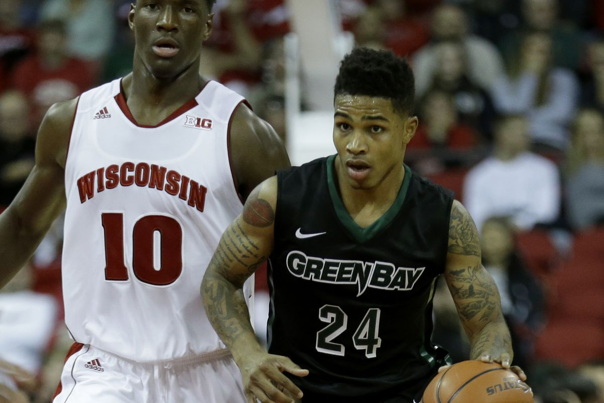 Keifer Sykes pushes the ball up the court against Wisconsin
