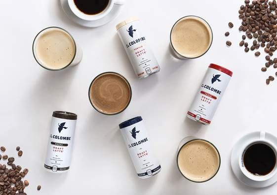 Draft latte cans at La Colombe
