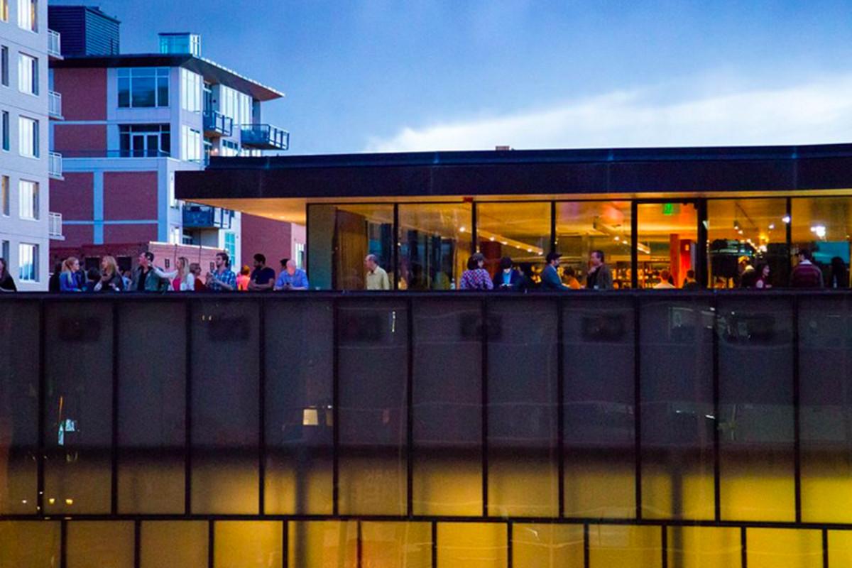 MCA Denver's rooftoop bar.