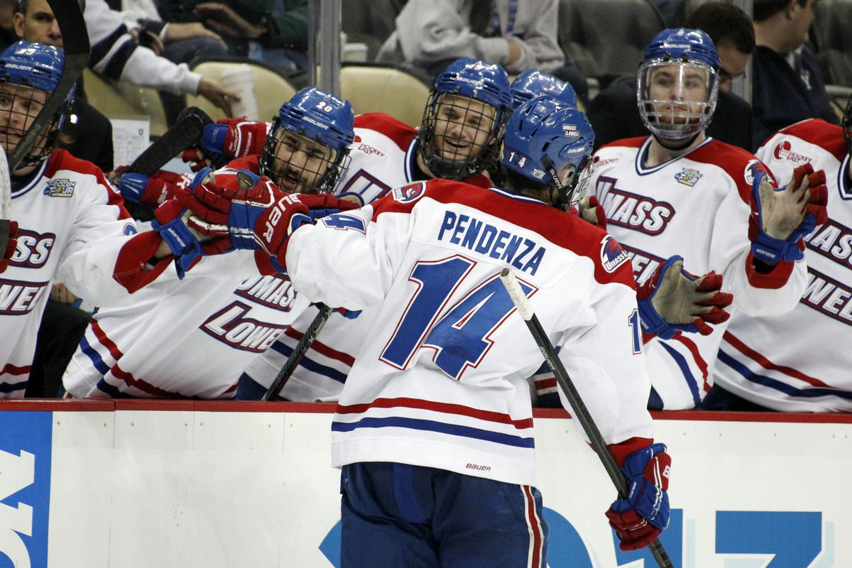 Joseph Pendenza and the River Hawks have had more to celebrate the last two weekends.