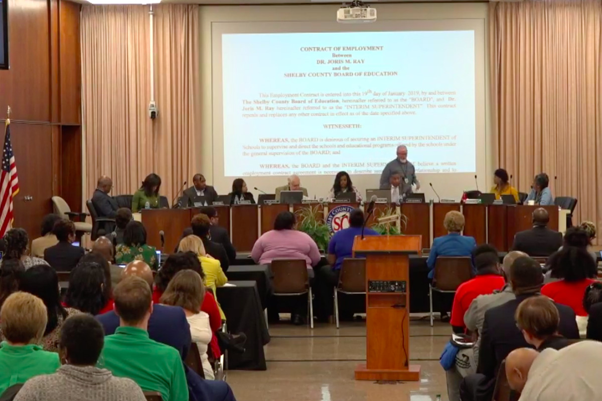 Shelby County Schools board met twice Wednesday; first to discuss the superintendent search, and then to approve a contract for the interim superintendent.