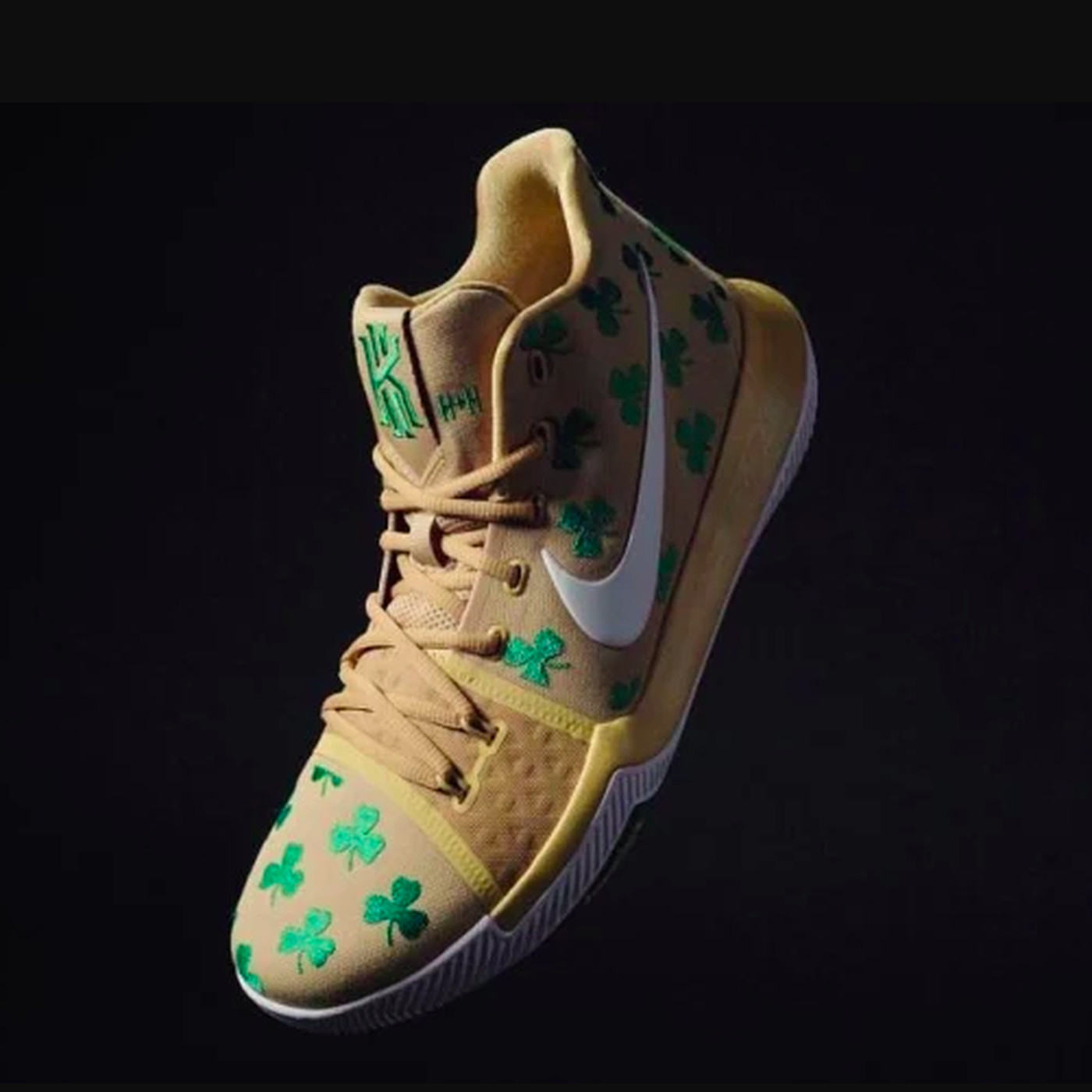 new product 6546d c22f8 Kyrie Irving's newest Celtics' themed shoe are ... different ...