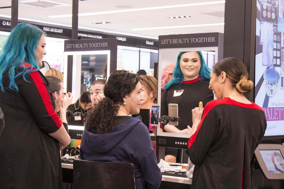 a makeup class for transgender clients at sephora sephora