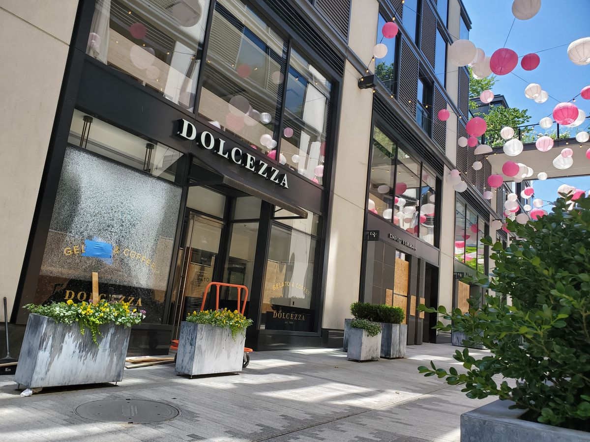 Dolcezza's gelato shop in CityCenter absorbed damage Saturday night.