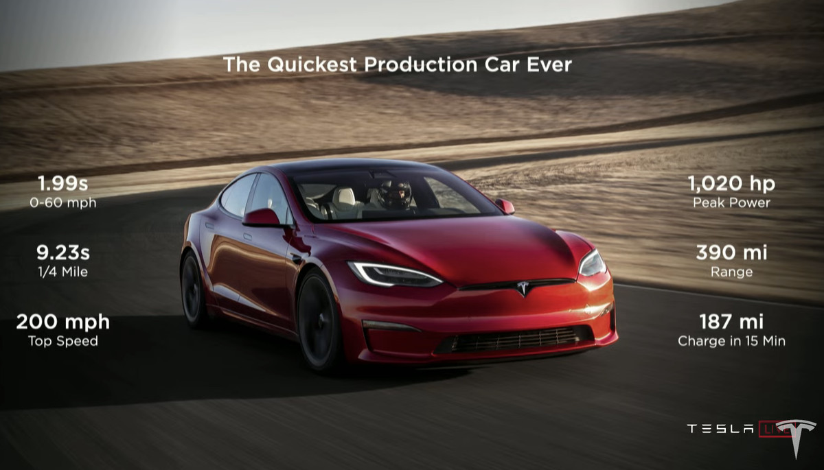 Tesla delivers the first 25 Model S Plaid sedans