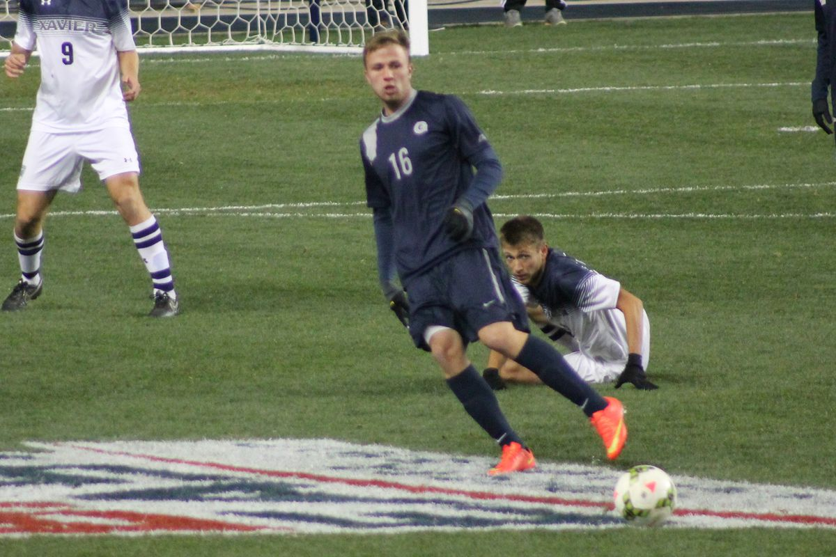 Brett Campbell playing in the 2014 Big East Tournament at PPL Park