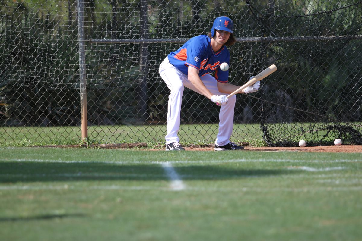 All those bunting drills paid off for deGrom Thursday night.