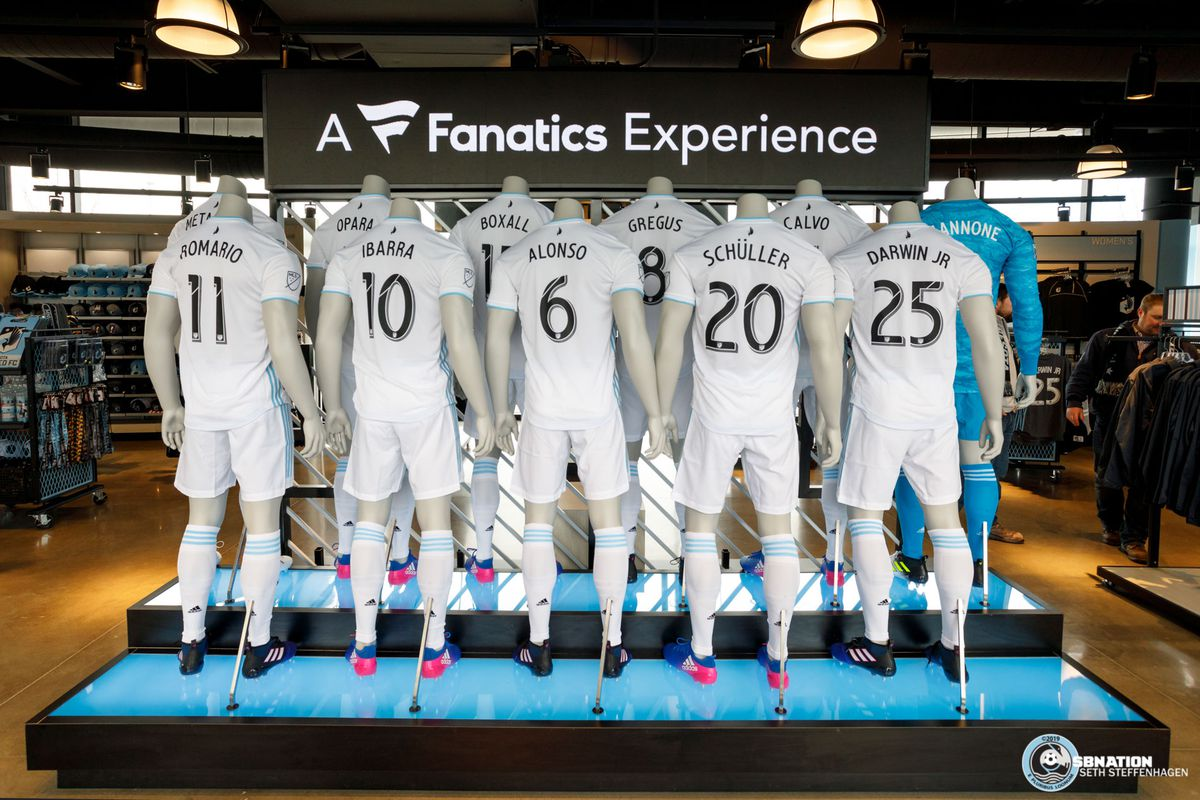 March 18, 2019 - Saint Paul, Minnesota, United States - View of the entry into the main Black And Blue store at Allianz Field.   (Photo by Seth Steffenhagen/Steffenhagen Photography)