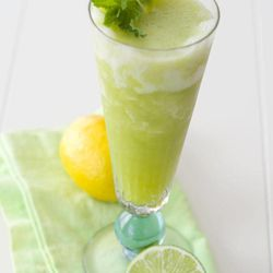 This April 2, 2012, photo made in Concord, N.H., shows a Cucumber Cooler cocktail for a Cinco de Mayo celebration.