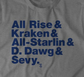 bef703ba7 ... to get in on the celebration with a t-shirt featuring a few of the Yankee  player nicknames. Aaron Judge