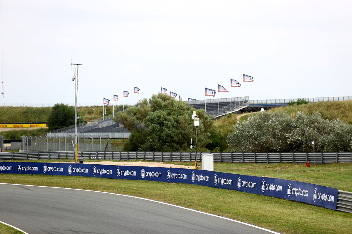 A general view of the circuit during previews ahead of the F1 Grand Prix of The Netherlands at Circuit Zandvoort on September 02, 2021 in Zandvoort, Netherlands.