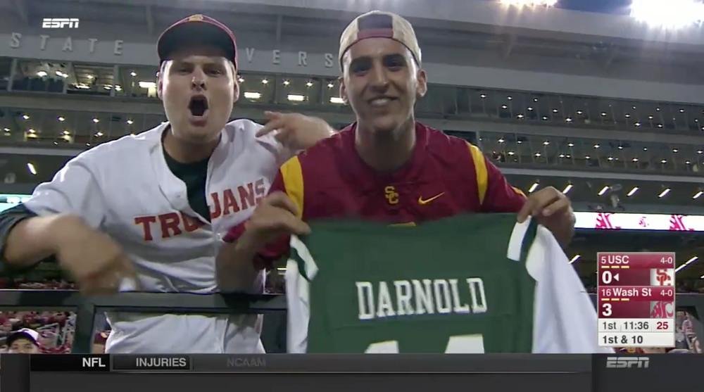 #12 USC Trojans (Pac12) : en fait, oui, Sam Darnold ressemble de plus en  plus à un QB des Jets…