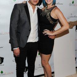 Markus Molinari and Katy Perry at 1 OAK.